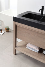 "BIBURY 48"" CHESTNUT OAK FREESTANDING MODERN BATHROOM VANITY"
