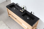 "BIBURY 72"" WHITEWASH OAK FREESTANDING MODERN BATHROOM VANITY"