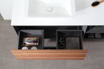 "GOREME 48""  WALNUT/DARK GRAY OAK WALL MOUNT MODERN BATHROOM VANITY"
