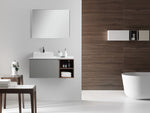 "MANAROLA 42"" LIGHT GRAY WALL MOUNT MODERN BATHROOM VANITY (OPEN SHELVES)"