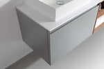 "MANAROLA 72"" LIGHT GRAY WALL MOUNT MODERN BATHROOM VANITY (OPEN SHELVES)"