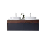 "RONDA 55"" DARK BLUE WALL MOUNT MODERN BATHROOM VANITY"