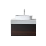 "RONDA 30"" SMOKE GRAY OAK WALL MOUNT MODERN BATHROOM VANITY"