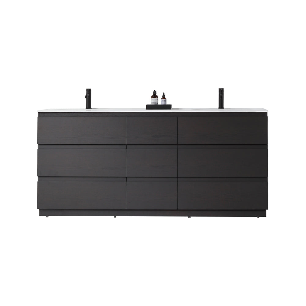 "ROTHENBURG 72""  CHARCOAL FREESTANDING MODERN BATHROOM VANITY"
