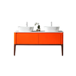 "SEBASTIAN 60"" RED AMBER DUAL MOUNT MODERN BATHROOM VANITY"