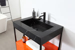 "TEXEL 30"" RED AMBER/DARK GRAY INDUSTRIAL STYLE FREESTANDING BATHROOM VANITY"