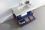 "TEXEL 42""  NAVY BLUE INDUSTRIAL STYLE FREESTANDING BATHROOM VANITY"