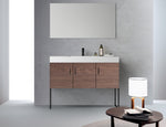 "VEEMON 48"" WALNUT DUAL MOUNT MODERN BATHROOM VANITY"