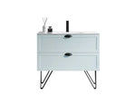 "WASILLA 36"" LIGHT BLUE DUAL MOUNT MODERN BATHROOM VANITY"