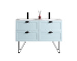 "WASILLA 48"" LIGHT BLUE DUAL MOUNT MODERN BATHROOM VANITY"