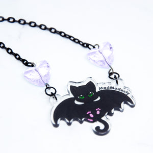 Batcat choker necklace