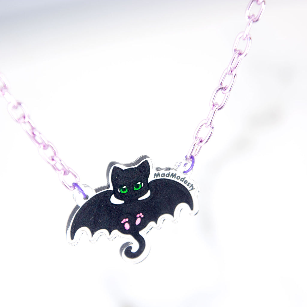 Batcat necklace