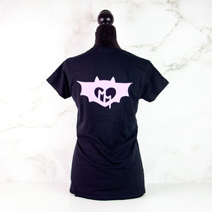Black and lilac BatCat T-shirt