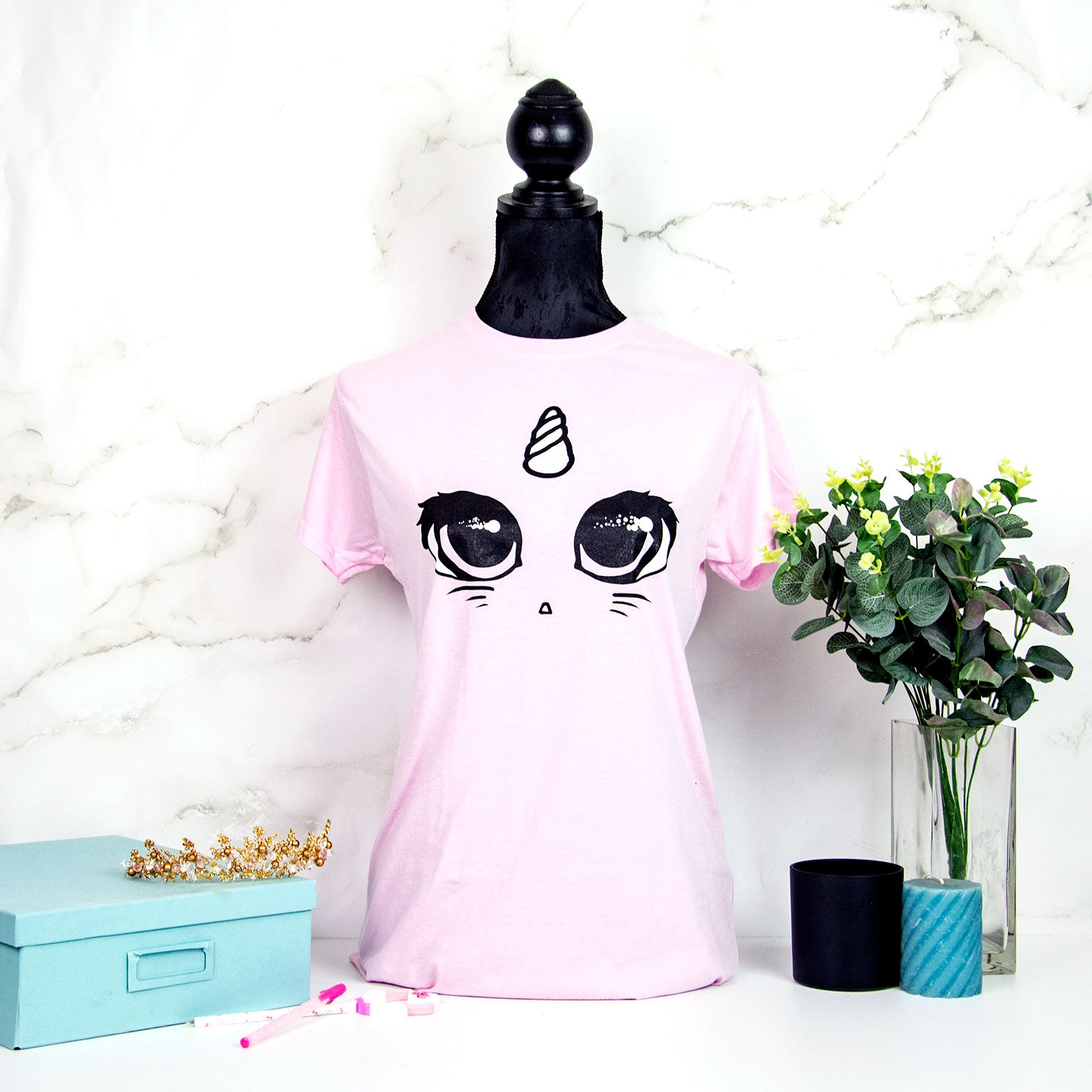 Pink unicorn cat T-shirt - MadModesty