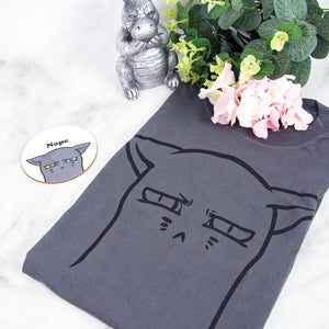 Cranky nope cat T-shirt - MadModesty