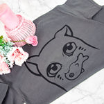 Kawaii manga anime cat print gift T-shirt - MadModesty