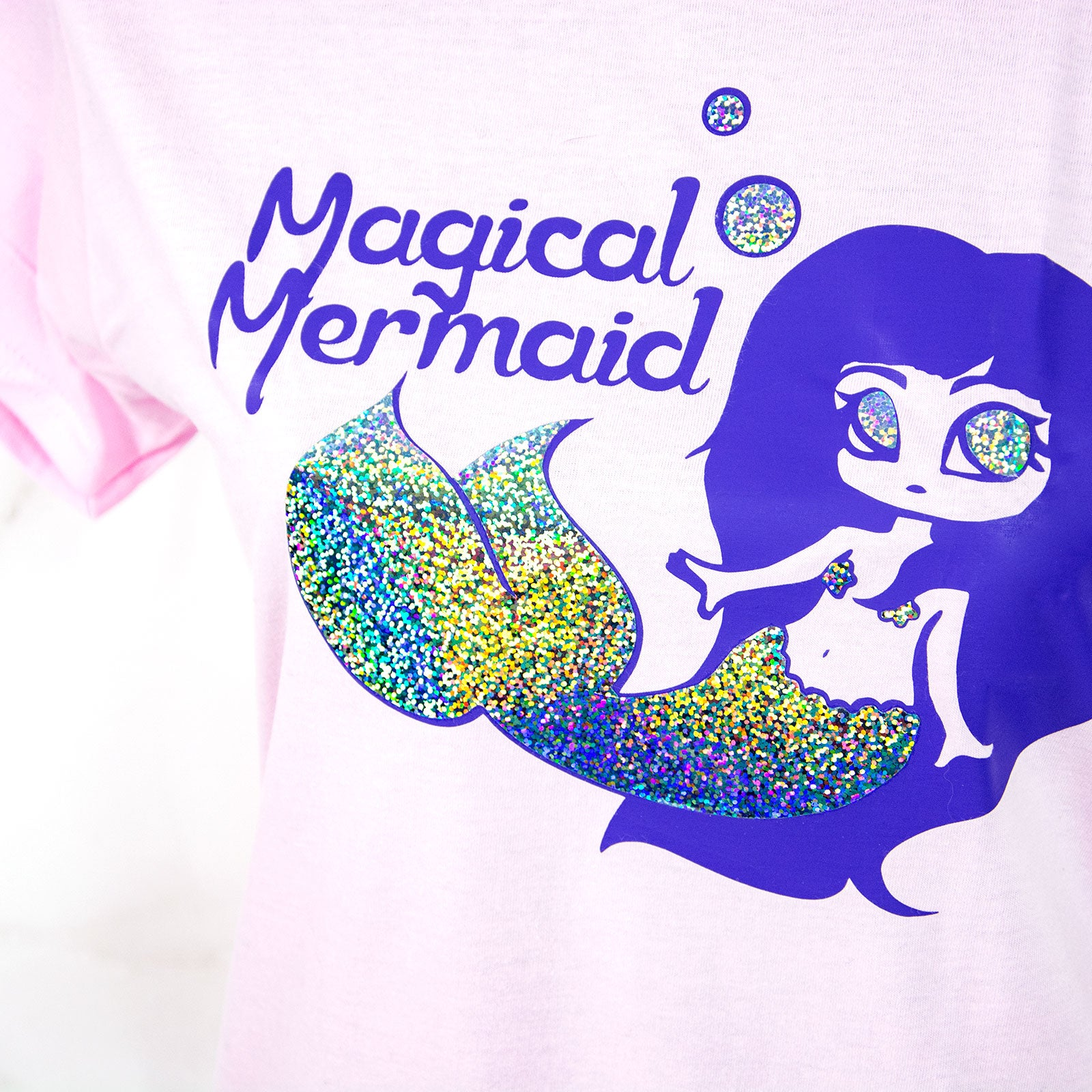 Ladies holographic fairy kei mermaid T-shirt - MadModesty