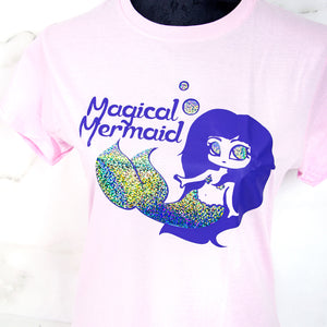 Pastel pink Magical mermaid T-shirt - MadModesty
