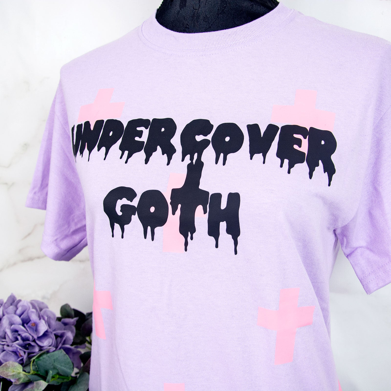 Soft pastel goth lilac clothing