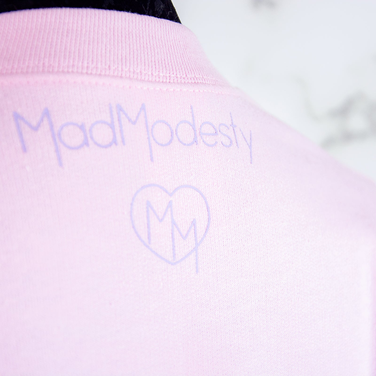 Pink and lilac 3-eyed cat sweater - MadModesty