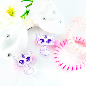 Unicorn cat hair clips - MadModesty
