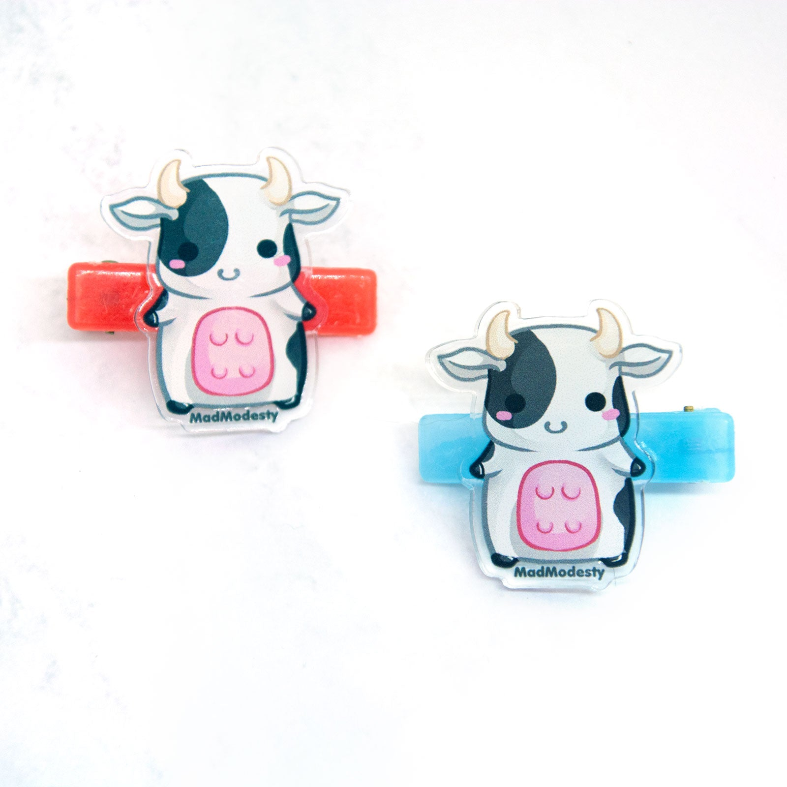 cute anime cow farm hair clips - MadModesty