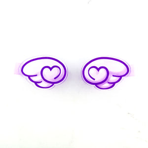Angel wing hair clip set - kawaii cute pastel goth