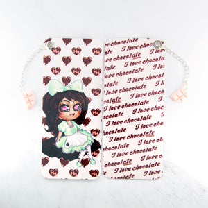 Chocolate maid bookmark with charm