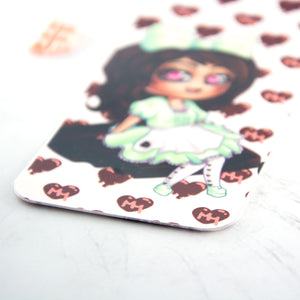 Kawaii japanese anime maid bookmark - MadModesty