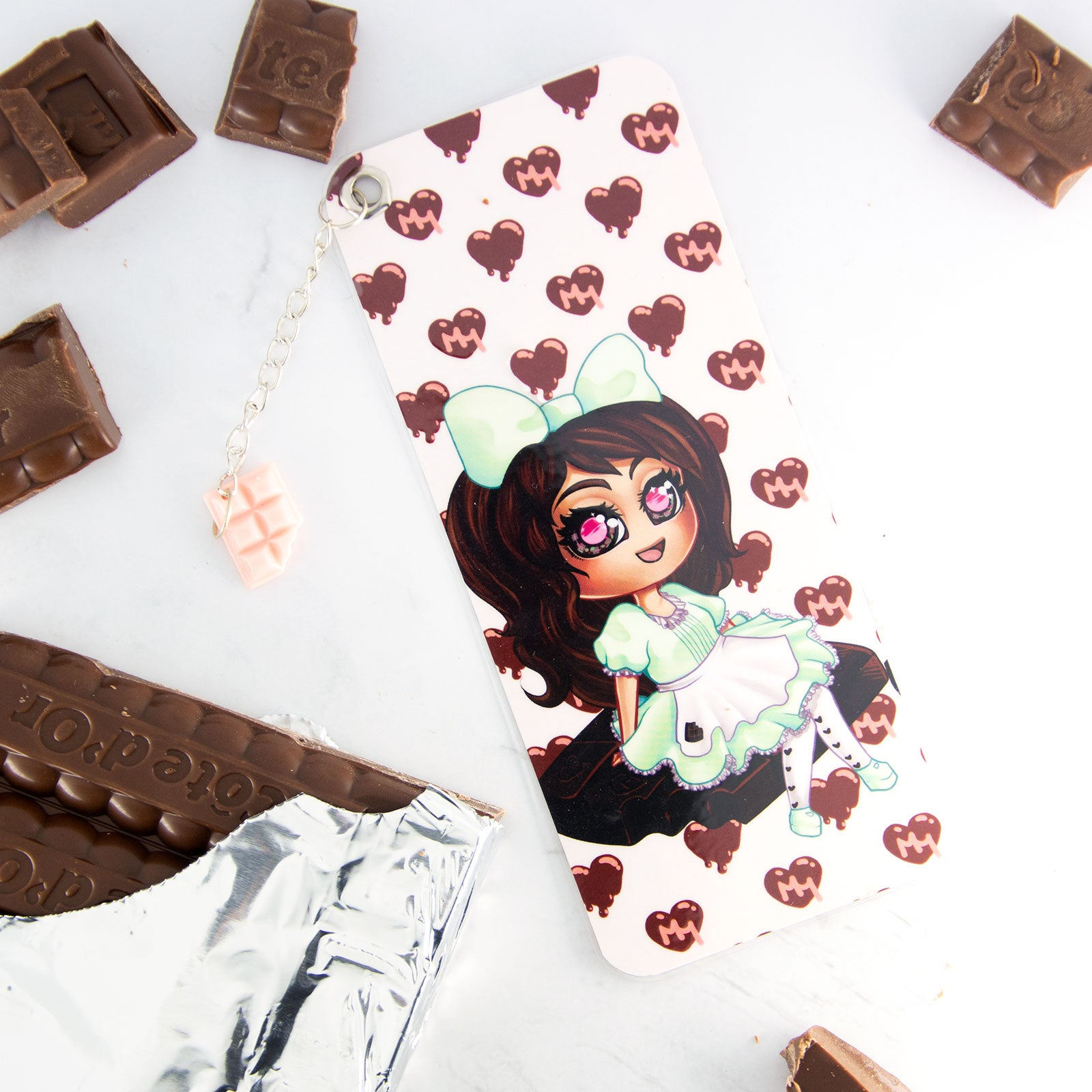 kawaii chibi maid girl bookmark - MadModesty