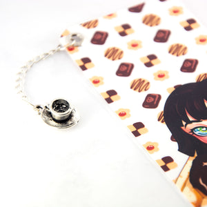 Kawaii japanese manga chibi girl art bookmark - MadModesty