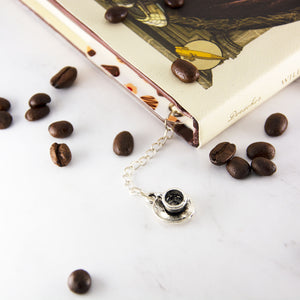 Coffee maid bookmark with charm - MadModesty