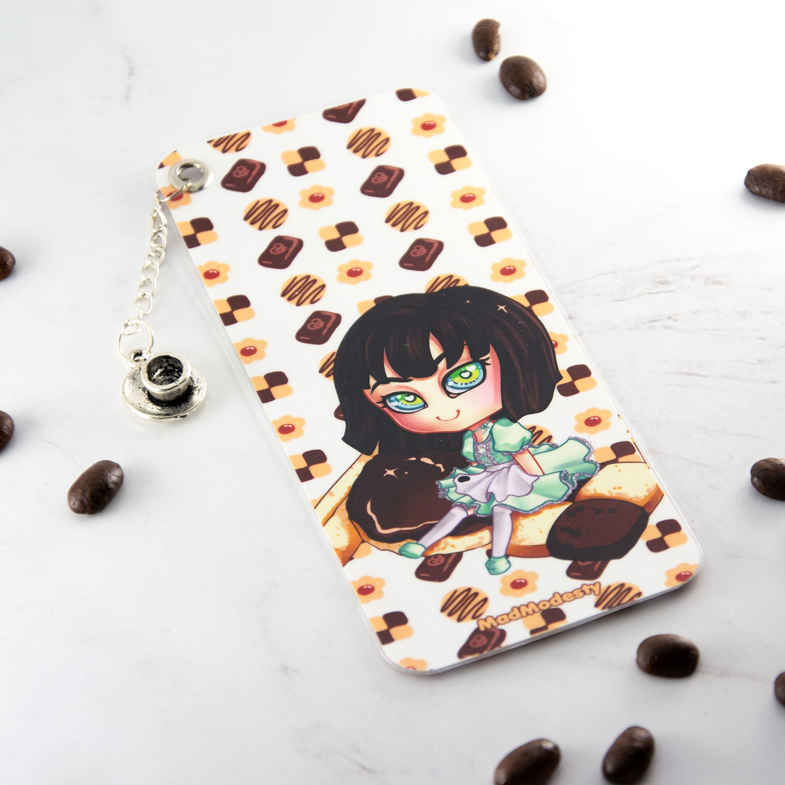 Kawaii japanese anime cofee lover bookmark - MadModesty