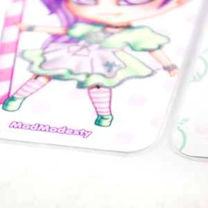 kawaii anime pastel goth maid bookmark - MadModesty
