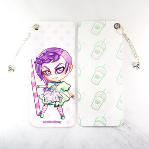 Creepy cute chibi manga art bookmark - MadModesty
