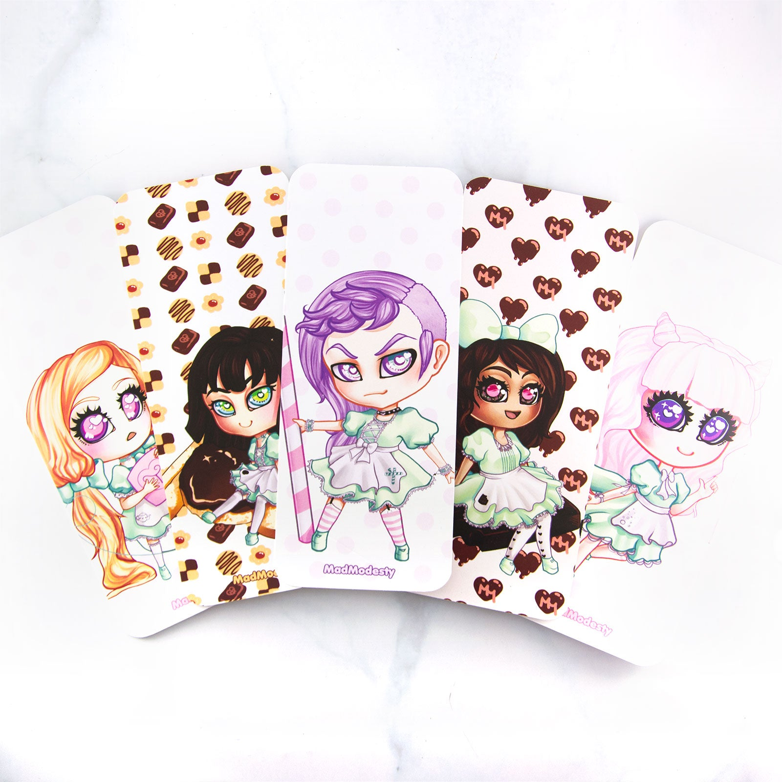 Cute maid bookmarks