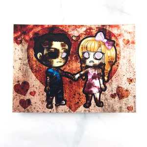Zombie couple postcard - MadModesty