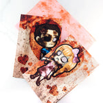 Zombie valentine card with charms - MadModesty