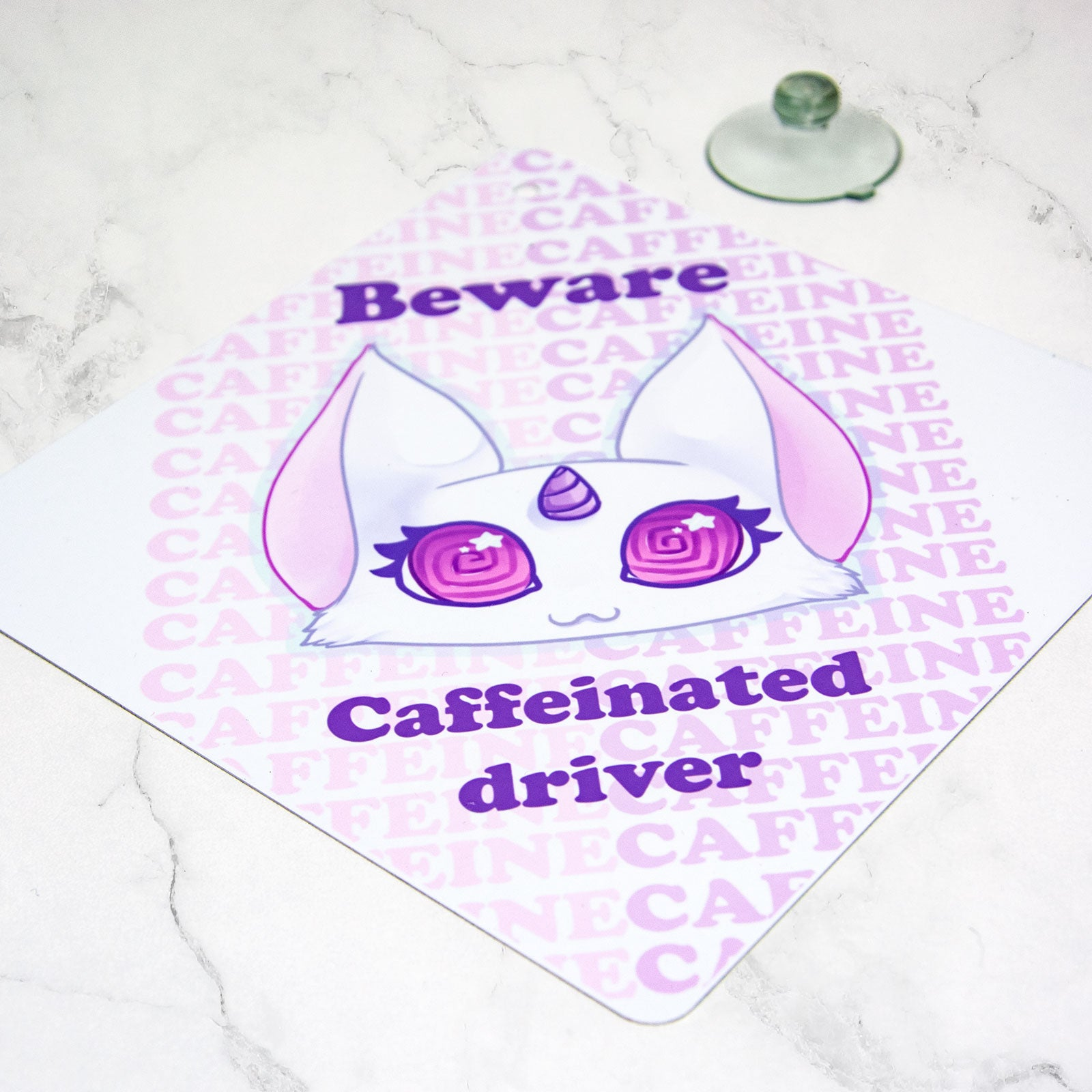 kawaii pink car sign for over new drivers licence - MadModesty