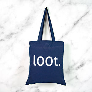 loot print tote bag - nerdy gamer gift bag - MadModesty