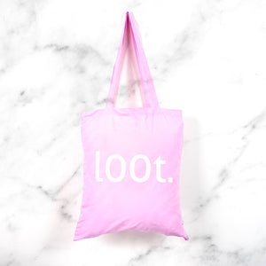 loot print tote bag - geeky girl gamer gift bag - MadModesty
