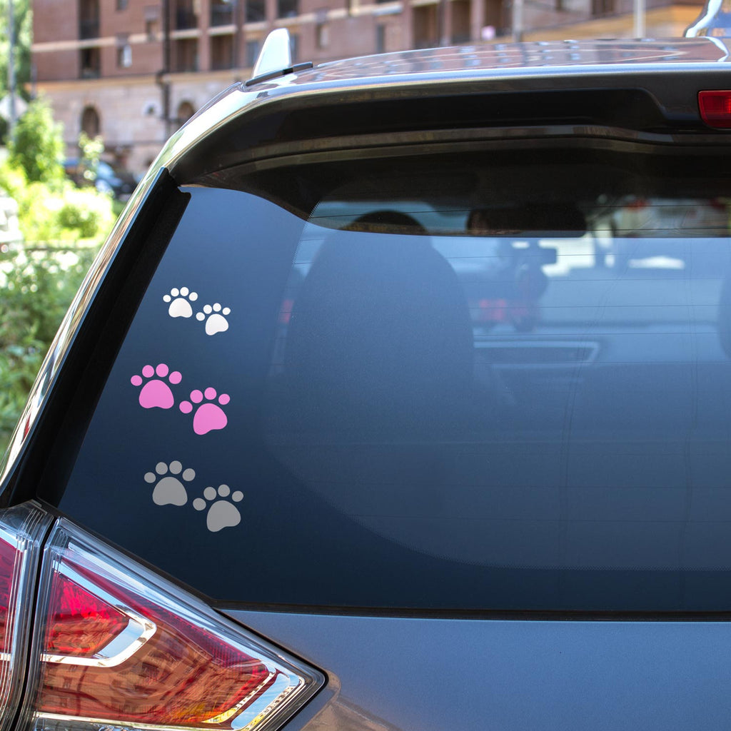 paw print decals cat mom dog mom animal lover shelter vinyl sticker