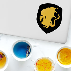 Gold dragon arthurian king arthur knight shield decal