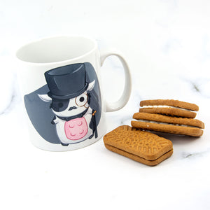 Chibi animal in tophat monocle steampunk mug - MadModesty