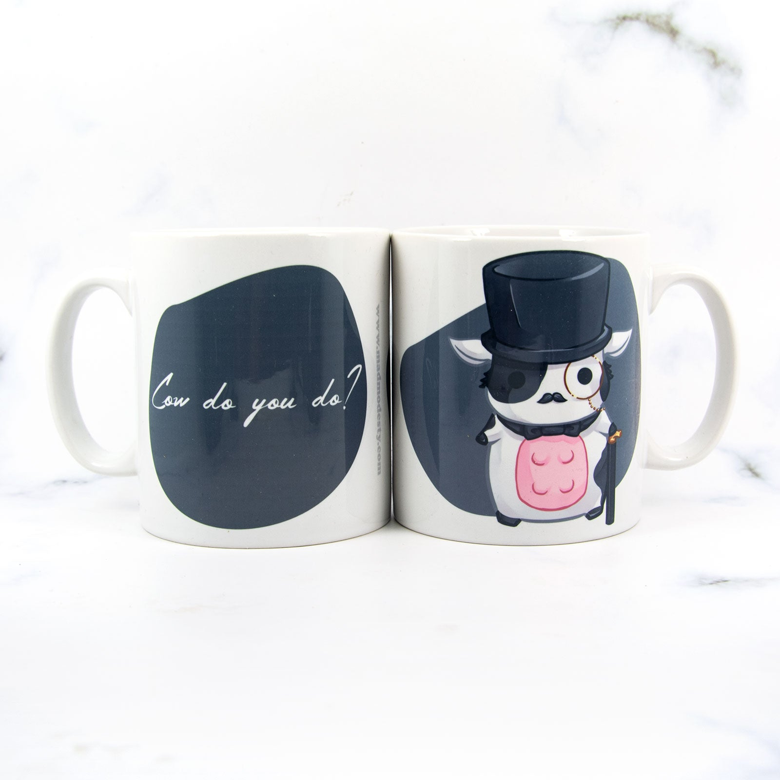 fancy cow mug - kawaii chibi animal mug - MadModesty
