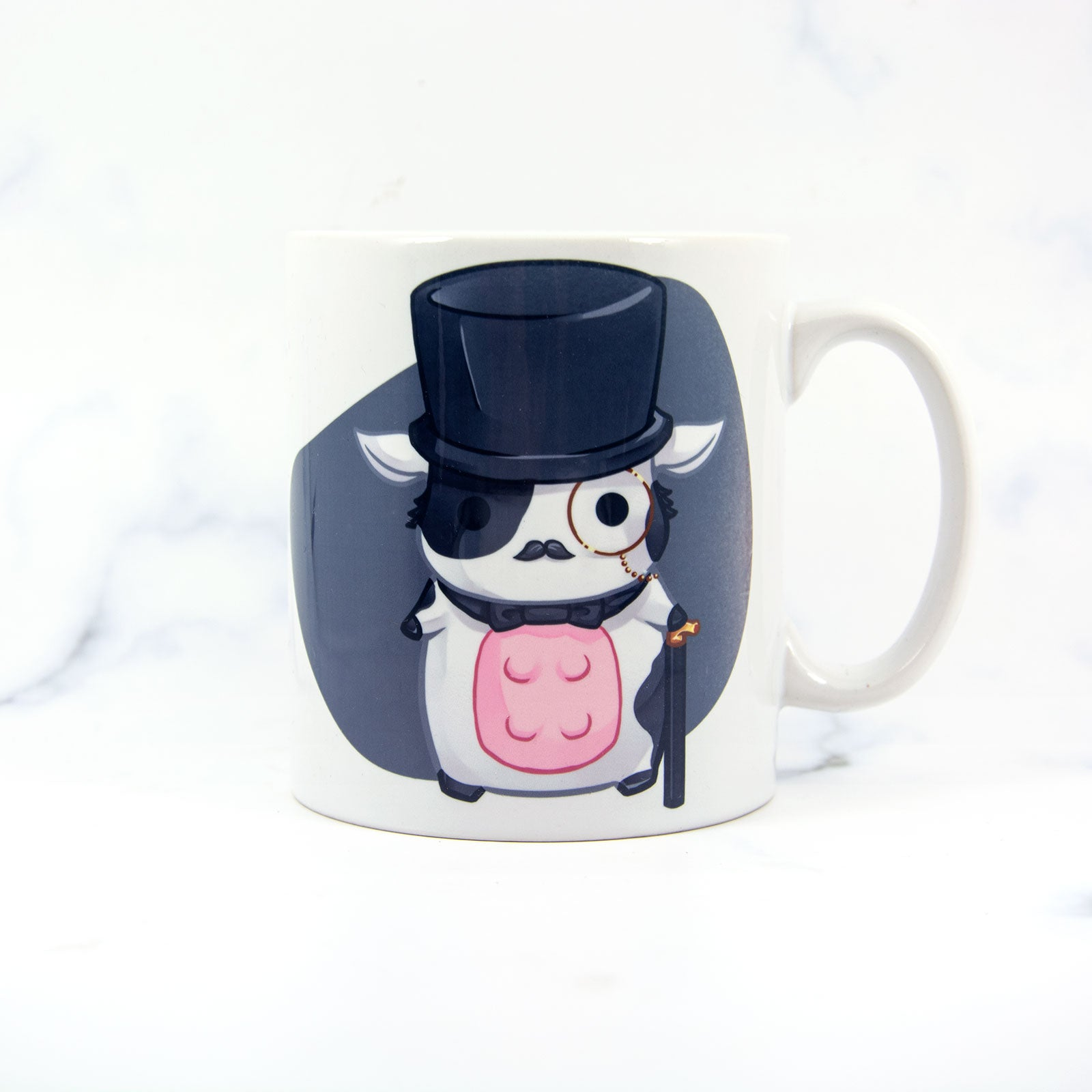 Kawaii chibi animal tophat cow cup - MadModesty