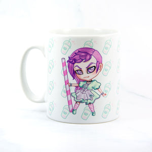 Pastel goth chibi anime maid cup - MadModesty