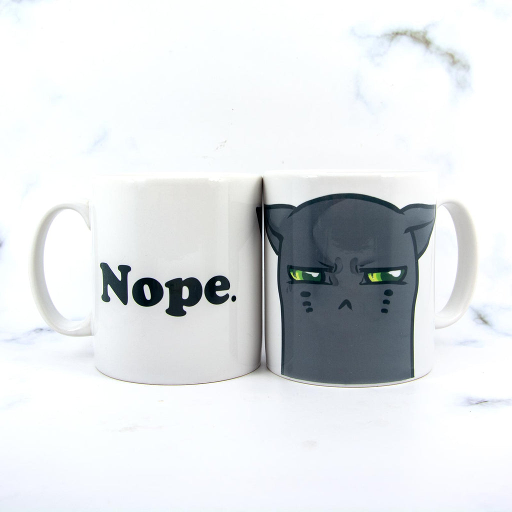 cranky grumpy cat drink mug - MadModesty