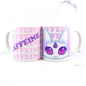 Overcaffeinated kitty mug
