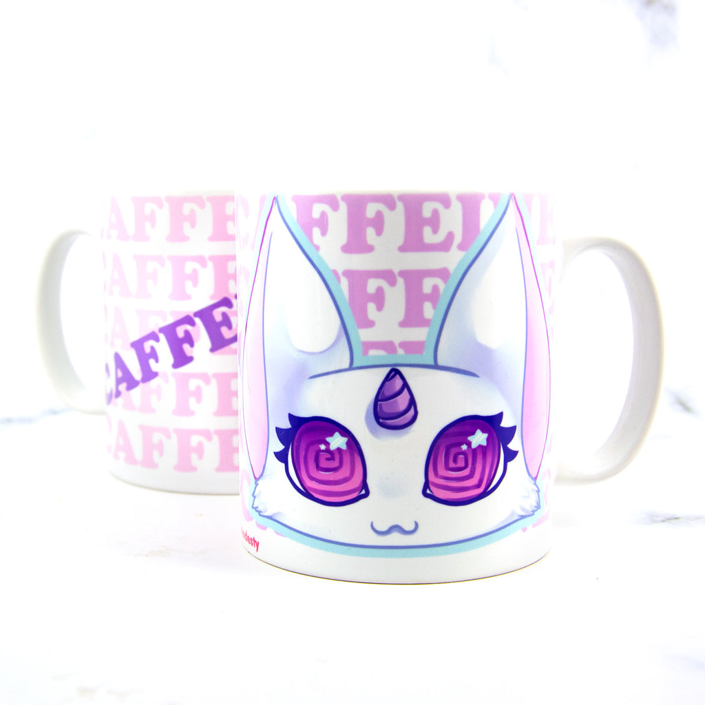 Overcaffeinated kitty mug for coffee lover - MadModesty